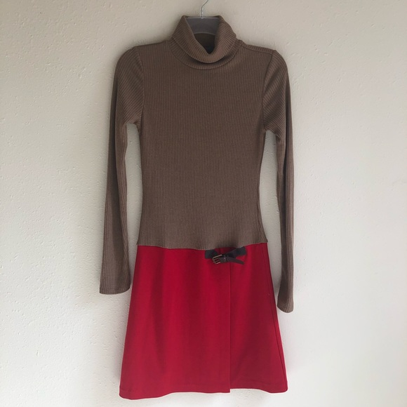 THML Anthropology Dresses & Skirts - THML Anthropologie Red and Tan Dress